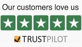 5 star reviews on Trustpilot